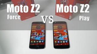 Moto Z2 Force vs Moto Z2 PLAY   ¿Cuál comprar?   Prueba de velocidad y cámara   ESPAÑOL