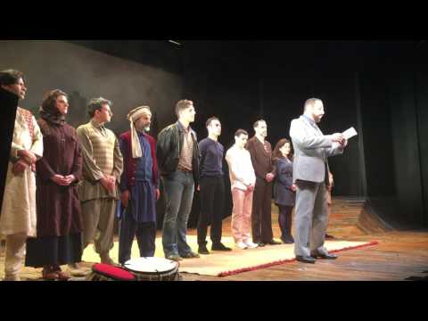 The West End cast of The Kite Runner Curtain Call Plea For Tolerance January 31 2017