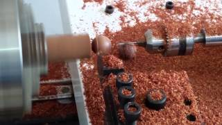How to make /India sandal wood bead /buddha/pray beads/ round beads by cnc automatic making machine