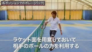テーマ別テニスレッスン動画/プロが教えるボレー レッスン #1