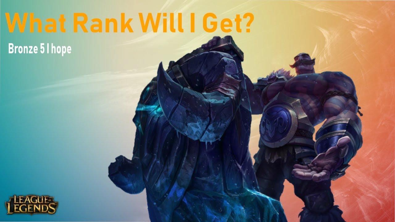 League Of Legends Provisional Rank