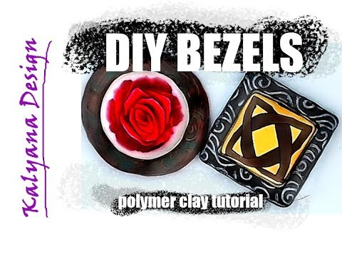 Polymer clay tutorial - how to make your own bezels and settings on a dime