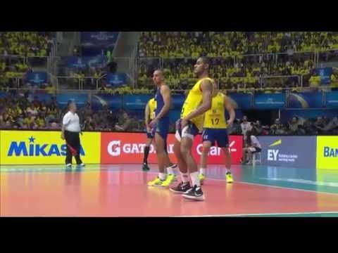 FIVB Volleyball World League Finals 2015  Brazil vs France   15 Jul