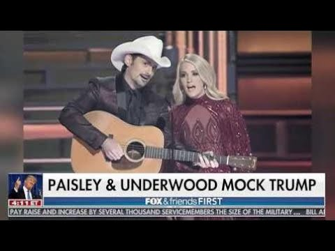 Brad Paisley & Carrie Underwood Mocking Donald Trump At Cma Awards eleven/9/17 (Video)