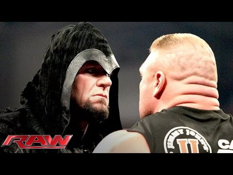 Thumbnail: Brock Lesnar is surprised by the return of The Undertaker: Raw, Feb. 24, 2014