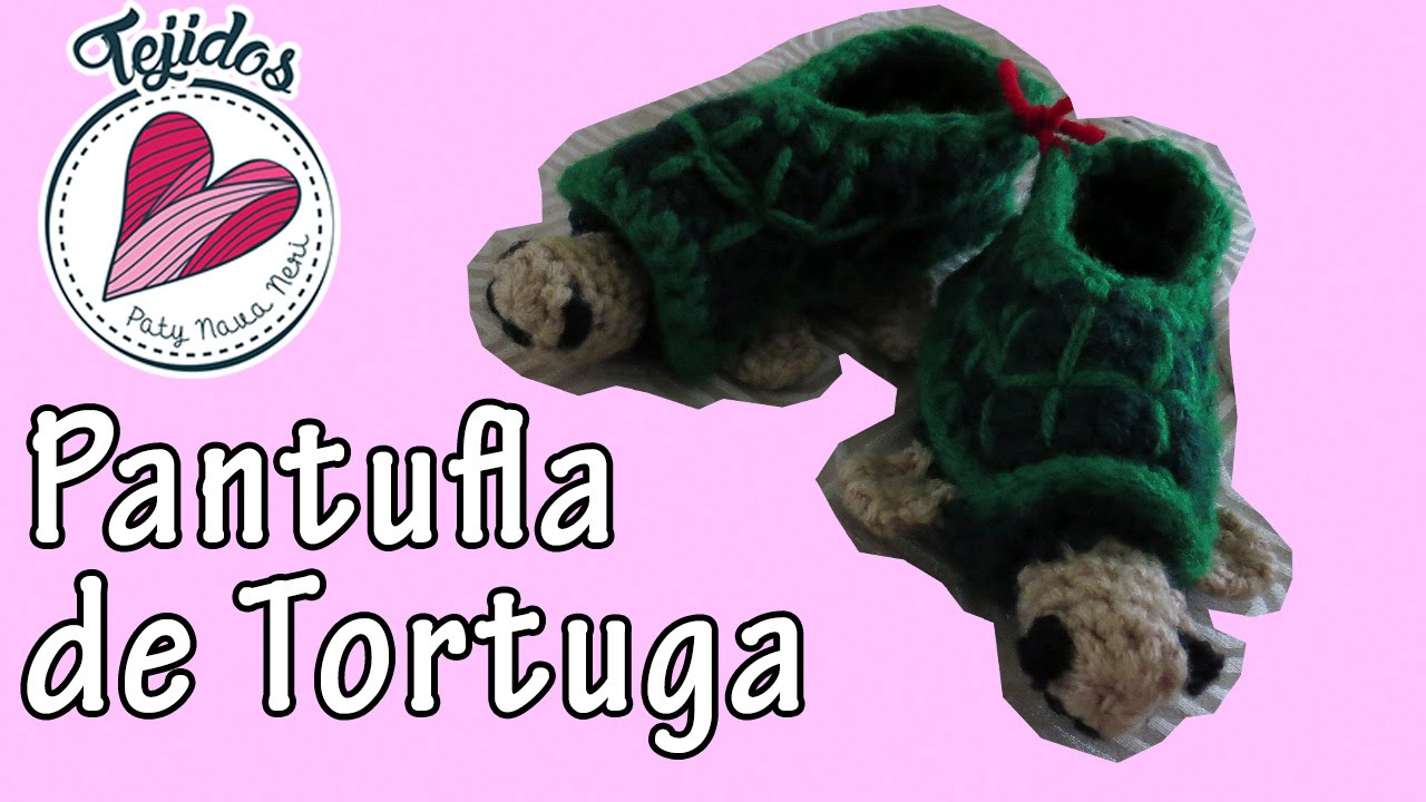 Tutorial Crochet] Tortuga Pantufla/Zapato - YouTube