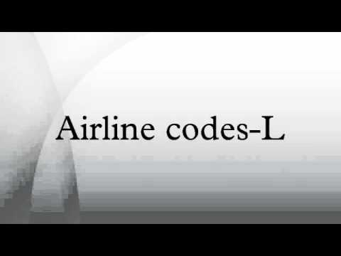 Airline codes-L