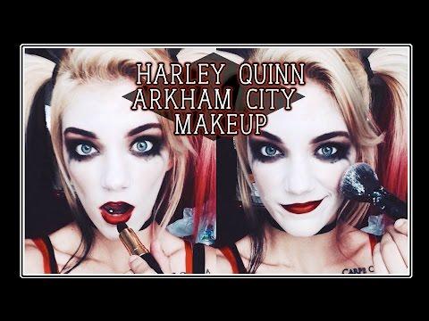 Arkham City Inspired Harley Quinn Makeup