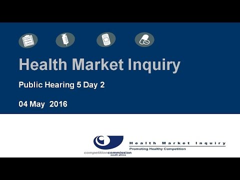 Public Hearings 3rd to 5th May held in Pretoria