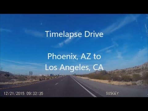 DashCamming: Timelapse Drive Phoenix, AZ to Los Angeles, CA i10 W