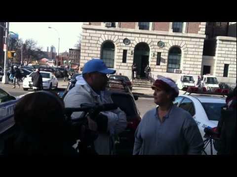 December 3, 2011 ~ Occupy the Bronx GA outside the 40th Precinct.