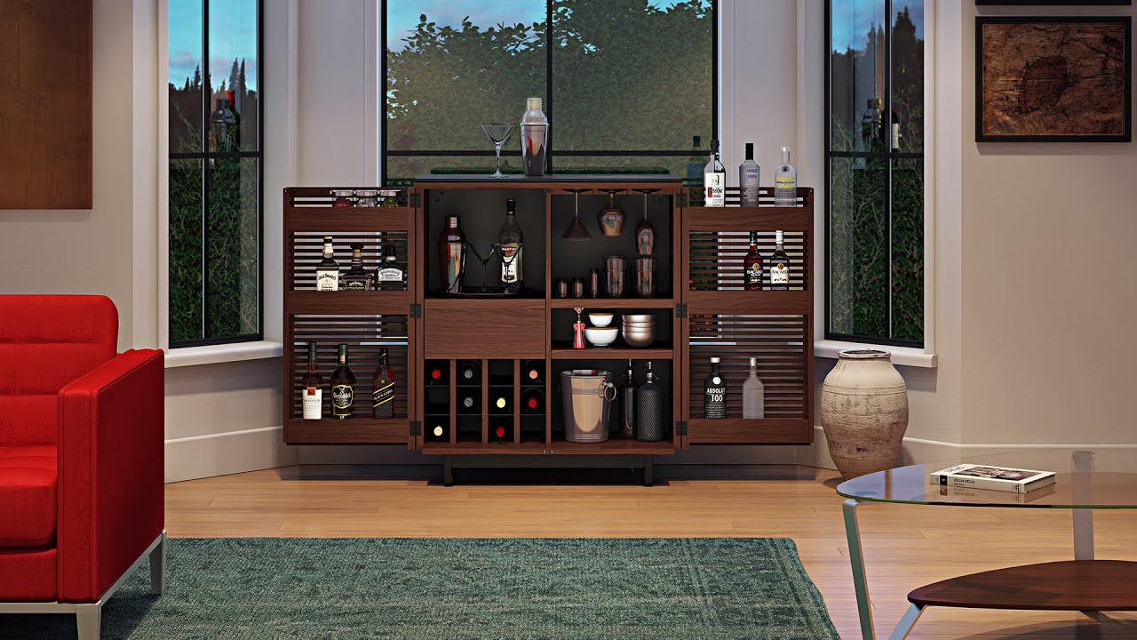 The corridor bar cabinet by bdi furniture entertain in style