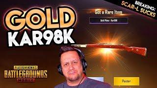 GOT MY GOLD KAR98K! SO MANY NEW WEAPON SKINS! PUBG Mobile