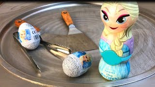 Ice Cream Rolls | Frozen Elsa - kinder Surprise Eggs Ice Cream / rolled ice cream chocolate roll egg thumbnail