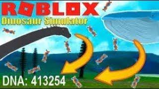 Falha louco do ADN do simulador do dinossauro do Roblox