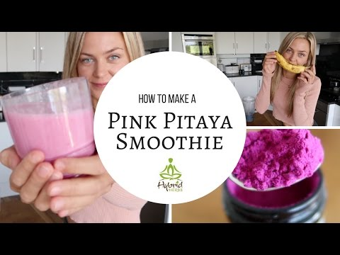 How to Make a Pink Pitaya Tropical Smoothie: Dragonfruit, Pineapple + Coco Milk