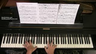 BACH-BUSONI: Wachet auf, ruft uns die Stimme (BWV 645) | Cory Hall, pianist