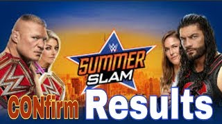 summerslam2018 matches prediction & results