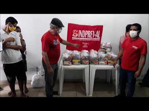 SINDPREV faz doações de cestas básicas em Maceió e Santana do Ipanema para o combate ao Covid 19
