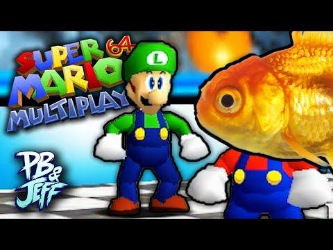 I'M A GOLDFISH! - Mario 64 MULTIPLAYER HACK! (Part 15)