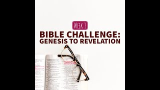 "The Bible Challenge: ""In-depth study of Job"" Week 3"
