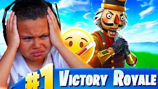 MY 10 YEAR OLD LITTLE BROTHER WINS A GAME OF FORTNITE *EXTREMELY SICK FROM THE FLU!* (Battle Royale)