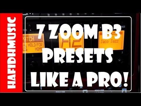 7 ZOOM B3 PATCH LIKE A PRO! - Sire V7 - HafidhMusic