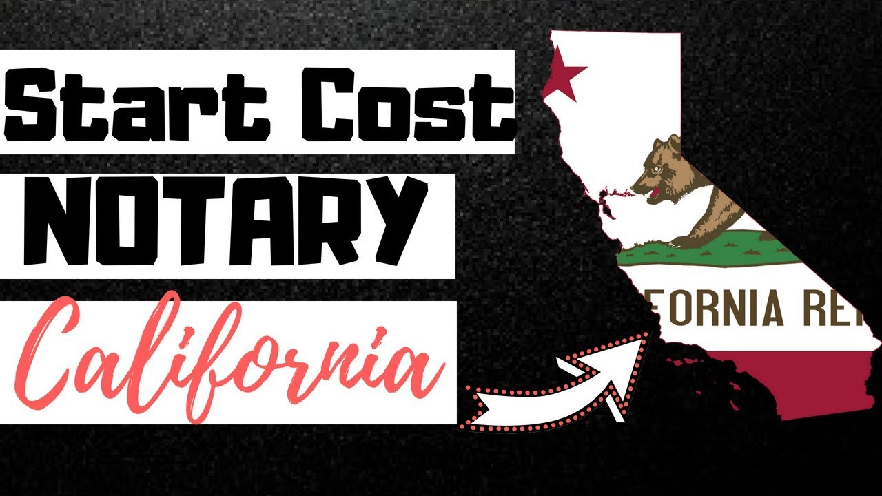 Cost to Become a Notary Public in California [FEES ...