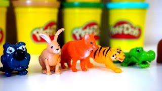 Сюрпризы животные из пластилина Плей До. Видео для детей