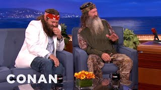 Download Duck Commanders Phil and Willie Robertson Interview - CONAN on TBS Mp3 and Videos