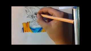 How to draw Goku from Dagon ball z Battle Of Gods