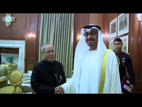 Sheikh Mohammed bin Zayed Al Nahyan, Crown Prince of Abu Dhabi called on President Mukherjee