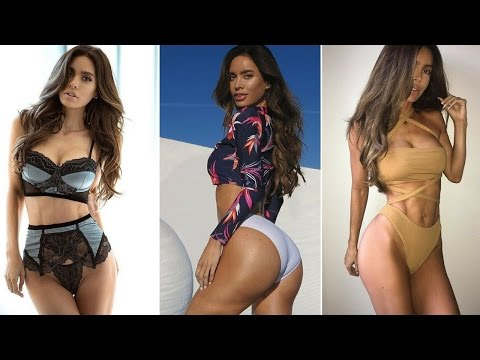 Lingerie model Sarah Stage Fitness and Gym Workout Routine