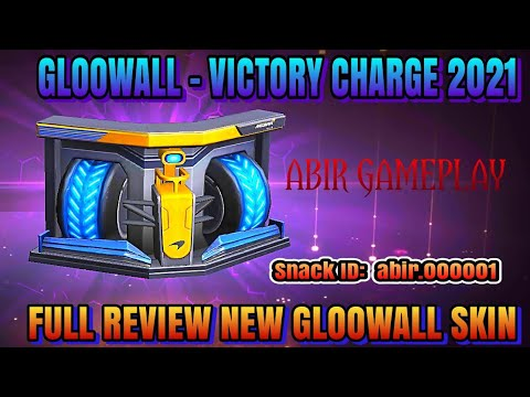 GLOOWALL – VICTORY CHARGE 2021 | FULL REVIEW NEW GLOOWALL SKIN | #FREE FIRE | ABIR GAMEPLAY