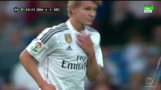 Martin Ødegaard Real Madrid DEBUT (vs Getafe) Home (23.05.2015) HD 720p