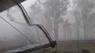 Supercell Storm Hits Australian Town