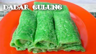 Resep dadar gulung no telur no mikser // resep kue dadar gulung isi kelapa