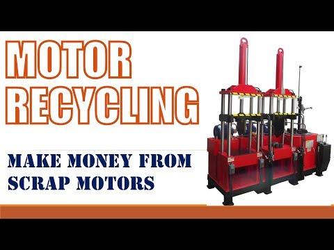 Electric motor scrapping machine mw 808ii motor processing for Electric motor recycling machine