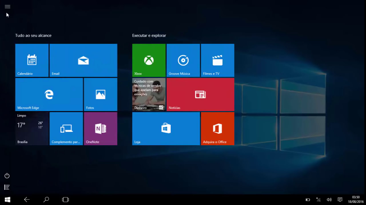 Como recupera area de trabalho windows 10 ? - YouTube