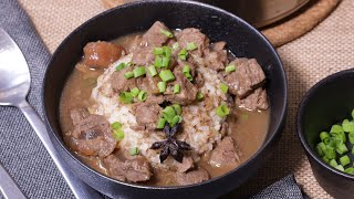 Homemade Beef Pares with Rice