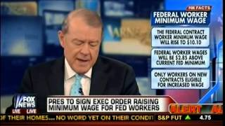 Obama To Sign Executive Order Raising Minimum Wage For Federal Workers - Varney, America