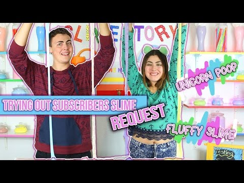 TRYING OUT SUBSCRIBERS SLIME REQUESTS, Instagram slimes and Pinterest slimes!!   Slimeatory #17