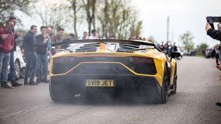 2019 Lamborghini Aventador SVJ - Flames, Revs, Launch Controls & Accelerations !