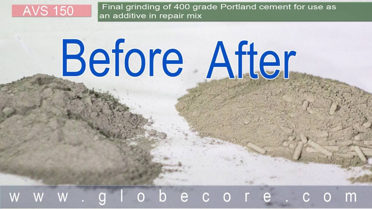 Using Portland Cement : Final grinding of grade portland cement for use as an