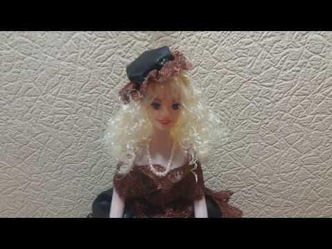 видео: Волосы для кукол из атласной ленты