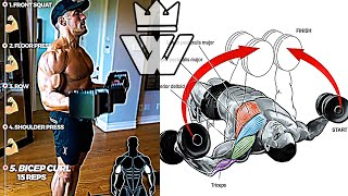 WORKOUT at Home (DUMBBELLS Exercise)