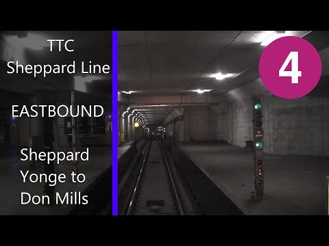 Ride on TTC Sheppard Line Eastbound Sheppard-Yonge to Don Mills