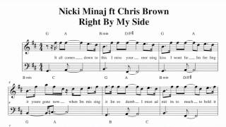 Nicki Minaj ft Chris Brown - Right By My Side Music sheet