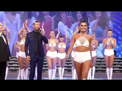 La bailarina que se consagró Miss Universo Argentina fue felicitada por Tinelli