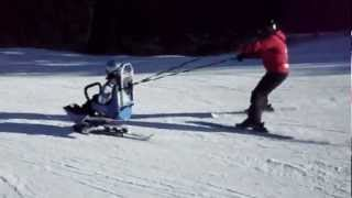 Sit Skiing - Mother and Daughter Team - Disabled Skiers